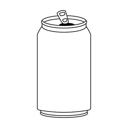 Icono de lata de refresco sobre fondo blanco, ilustración vectorial Ilustración de vector