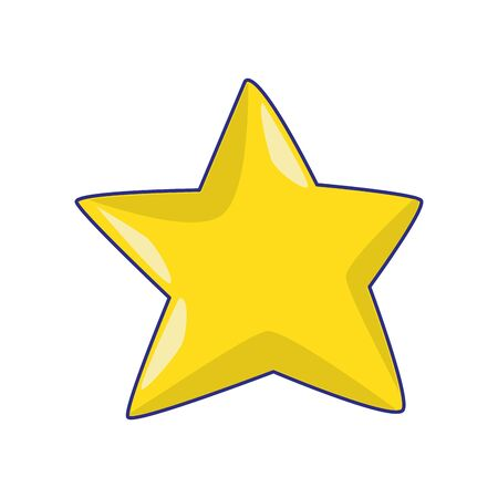 yellow star icon over white background, vector illustration