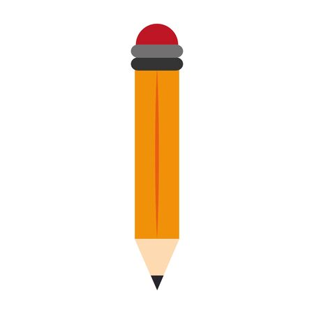 school utensil, pencil icon over white background, vector illustration