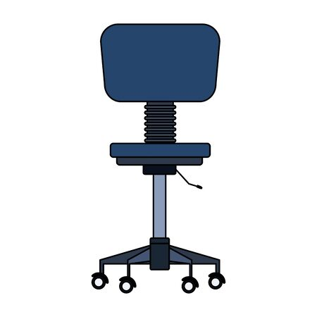 office chair icon over white background, colorful design. vector illustration