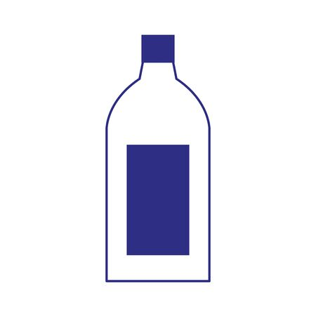 drink bottle icon over white background, flat design. vector illustration