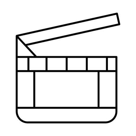 clapper board cinema isolated icon vector illustration design