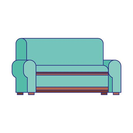 couch icon over white background, vector illustration