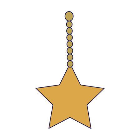 decorative star hanging over white background, vector illustration Vektorgrafik