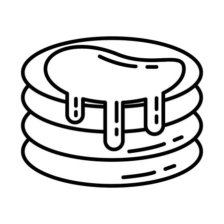 sweet pancakes pastry isolated icon vector illustration design