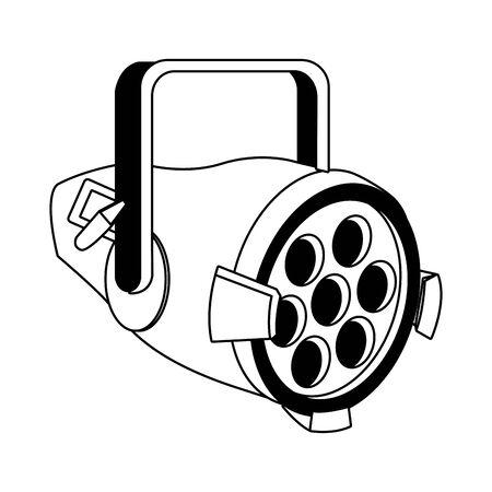 stage lights icon over white background, flat design, vector illustration