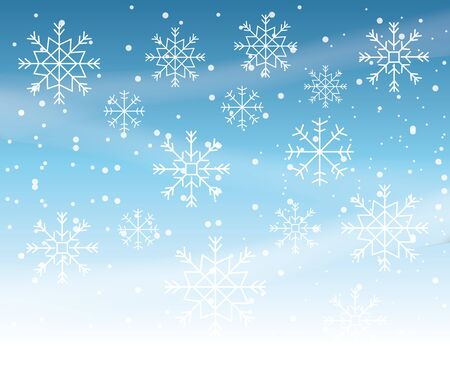 winter storm with snowflakes scene vector illustration design 일러스트