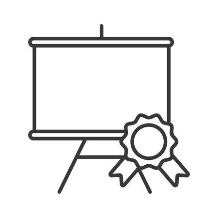 paperboard training with medal price vector illustration design Illustration