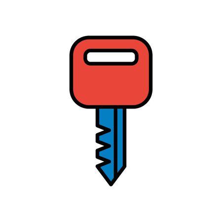 key house door isolated icon vector illustration design