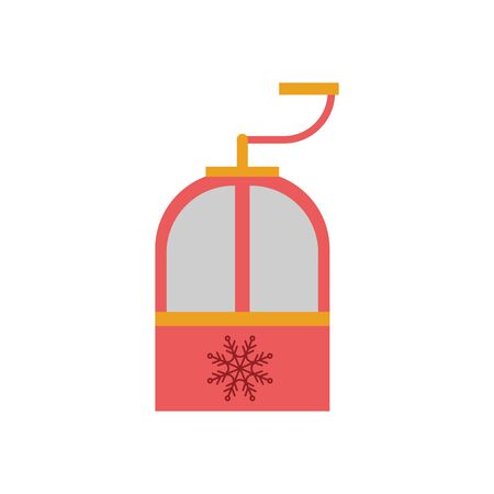 cableway winter transport isolated icon vector illustration design