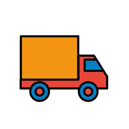 delivery service truck isolated icon vector illustration design Vectores