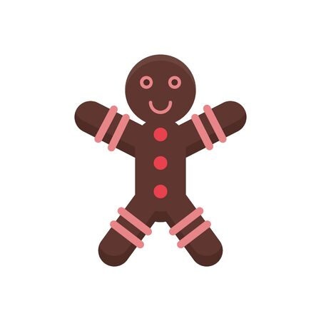 merry christmas ginger cookie icon vector illustration design