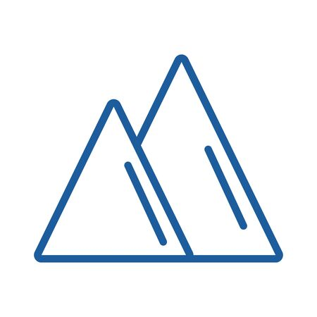 mountains peaks big isolated icon vector illustration design