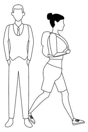 love couple cartoon vector illustration graphic design