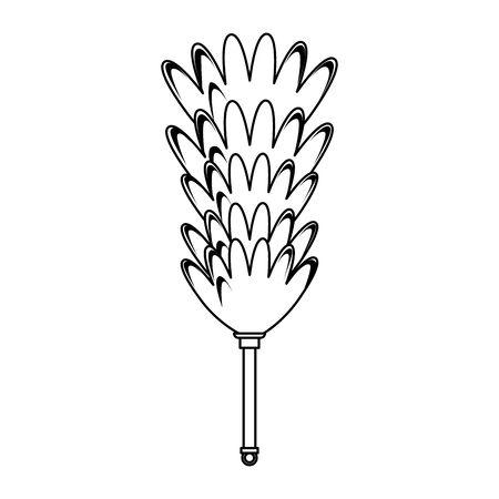 Cleaning cobweb brush isolated symbol vector illustration graphic design.