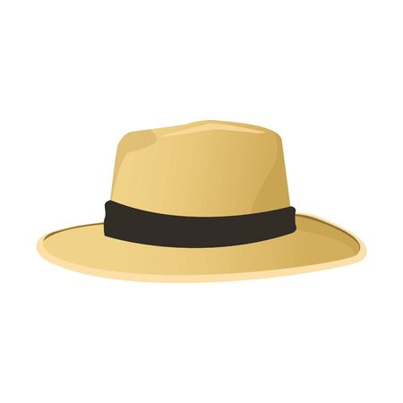 Icône de chapeau de plage sur fond blanc, design coloré, illustration vectorielle Vecteurs