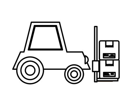 forklift vehicle service isolated icon vector illustration design