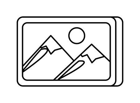 file immagine immagine icona isolata illustrazione vettoriale design
