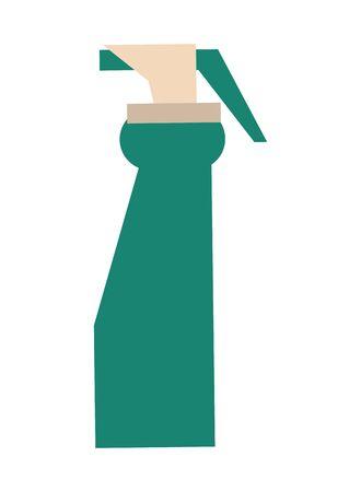 splash bottle product clean icon vector illustration design Illustration