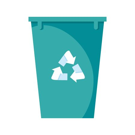 recycle bin pot isolated icon vector illustration design