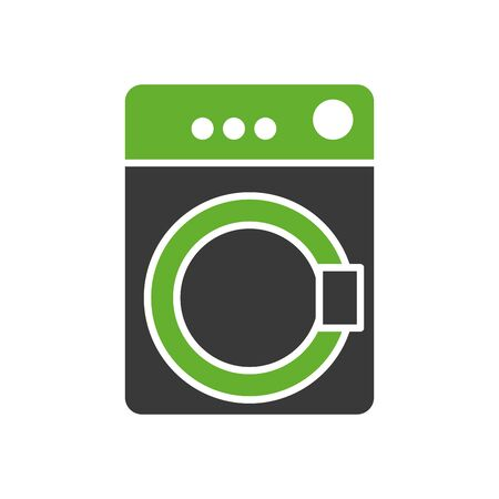 wash machine appliance isolated icon vector illustration design Stock Illustratie