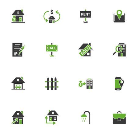 bundle of real estate set icons vector illustration design