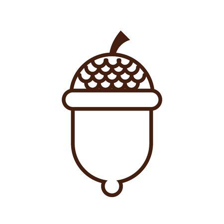 seed acorn autumn nature icon vector illustration design 스톡 콘텐츠 - 136269551