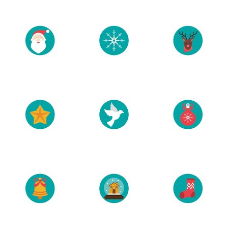 bundle of winter season set icons vector illustration design