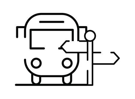 bus public transport isolated icon vector illustration design Illustration