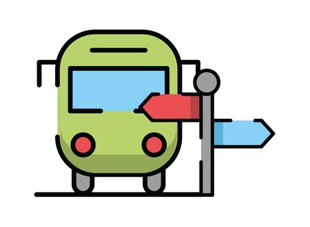 bus public transport isolated icon vector illustration design Vector Illustration