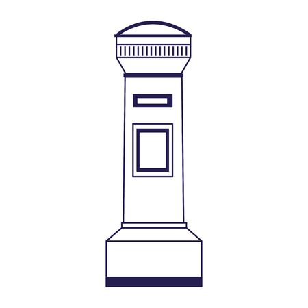 water hydrant icon over white background, vector illustration