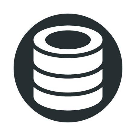 data center disks isolated icon vector illustration design