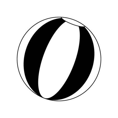 beach ball icon over white background