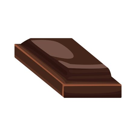 piece of chocolate icon over white background, vector illustration