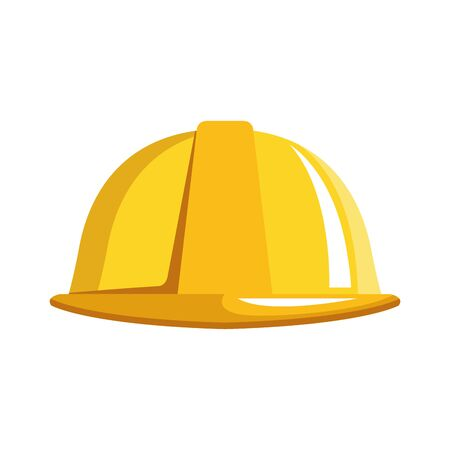 safety helmet icon over white background, vector illustration