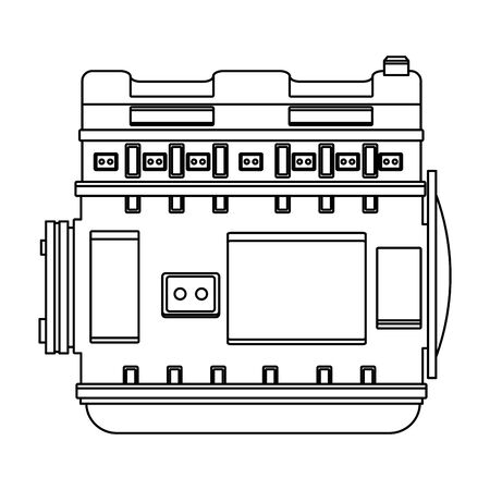 car service part engine cartoon vector illustration graphic design