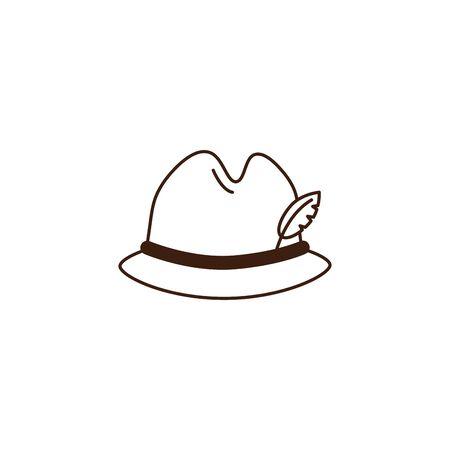 oktoberfest german hat celebration isolated icon vector illustration design Ilustrace