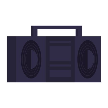 Retro videogame radio stereo pixelated cartoon isolated vector illustration graphic design