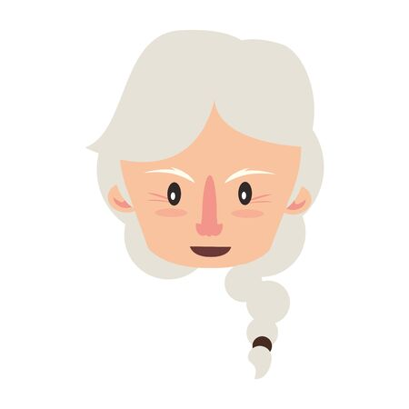 grandparent senior old retirement grandmother face cartoon vector illustration graphic design