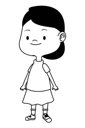 Beautiful girl smiling and having fun vector illustration graphic design.