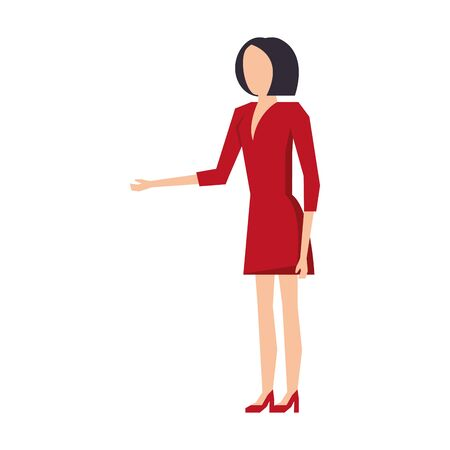 executive business finance worker woman cartoon vector illustration graphic design