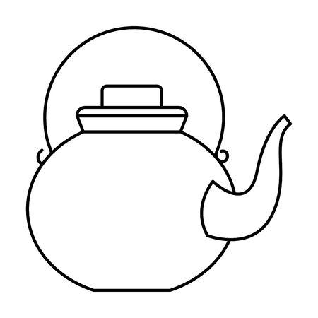 Teapot and kettle drinks utensils ,vector illustration graphic design.
