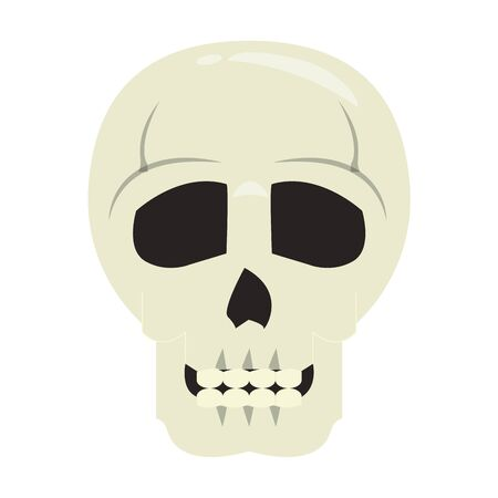 skull dead human anatomy cartoon vector illustration graphic design