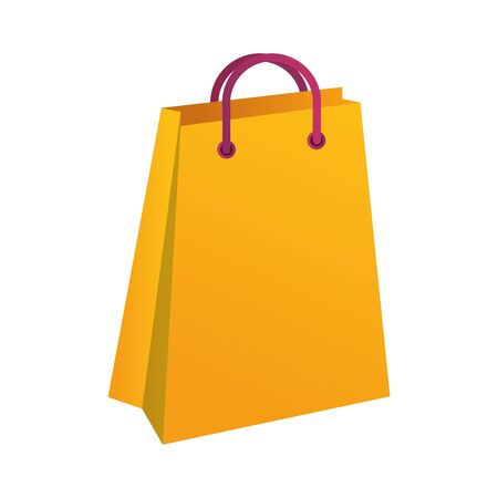 shopping bag paper marketing icon vector illustration design