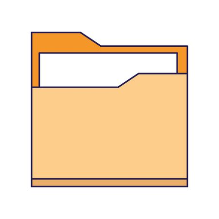 document folder icon over white background, vector illustration