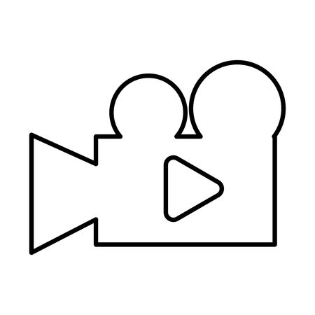 media player play button in camera video vector illustration design Vektoros illusztráció