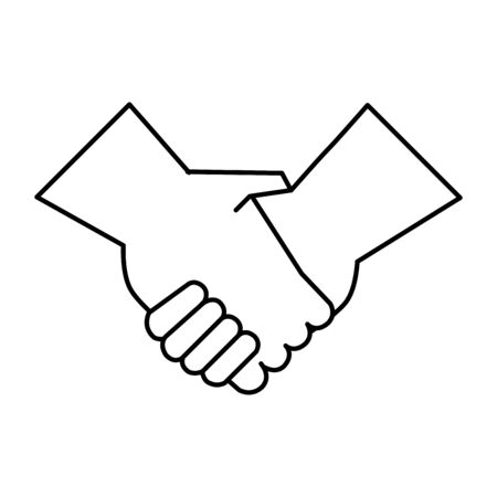 handshake done deal isolated icon vector illustration design