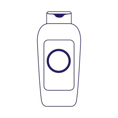 sunscreen bottle icon over white background, flat design, vector illustration