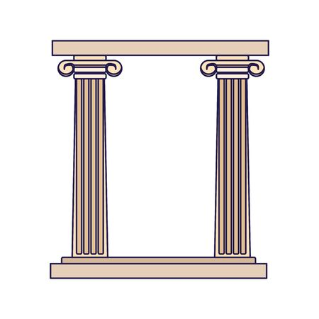 arch of columns icon over white background, vector illustration Archivio Fotografico - 136624762