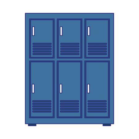 lockers row icon over white background, vector illustration Ilustração